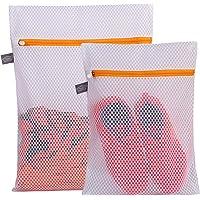 Kimmama Delicates Laundry Bag - 2 Pack Honeycomb Mesh Lingerie Wash Bag-Orange Zipper