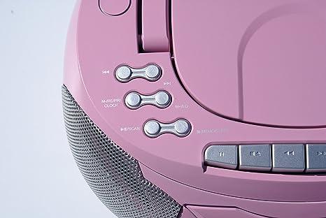 Denver TCP-39PINK CD-Radio Pink PLL, Player, CD-R, CD-RW, 2/W, LCD, AC//Batterie 2/W