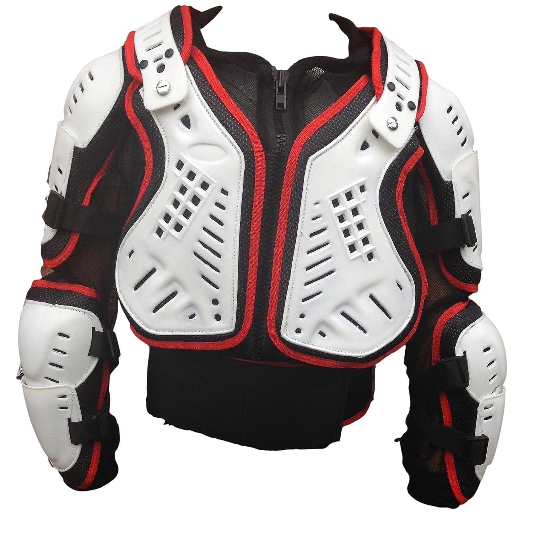 XTRM Giacca Protettiva Adulto Motocross Enduro Pettorina Corazza Moto, Off-Road racing armatura, Rosso/Bianco (S) Riderwear