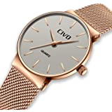 CIVO Relojes para Mujer Reloj Damas de Malla Impermeable Silm Minimalista Elegante Banda de Acero Inoxidable Relojes de Pulsera Moda Vestir Negocio Lujo Casual Reloj de Cuarzo