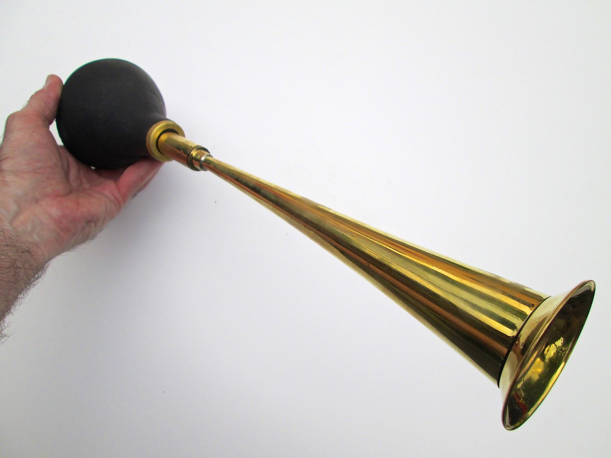 Straight Brass Bulb Horn by Folkroots (Image #4)