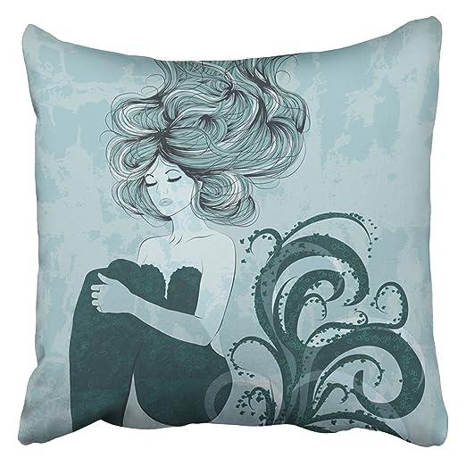 Emvency - Fundas de almohada decorativas con diseño de diosa ...