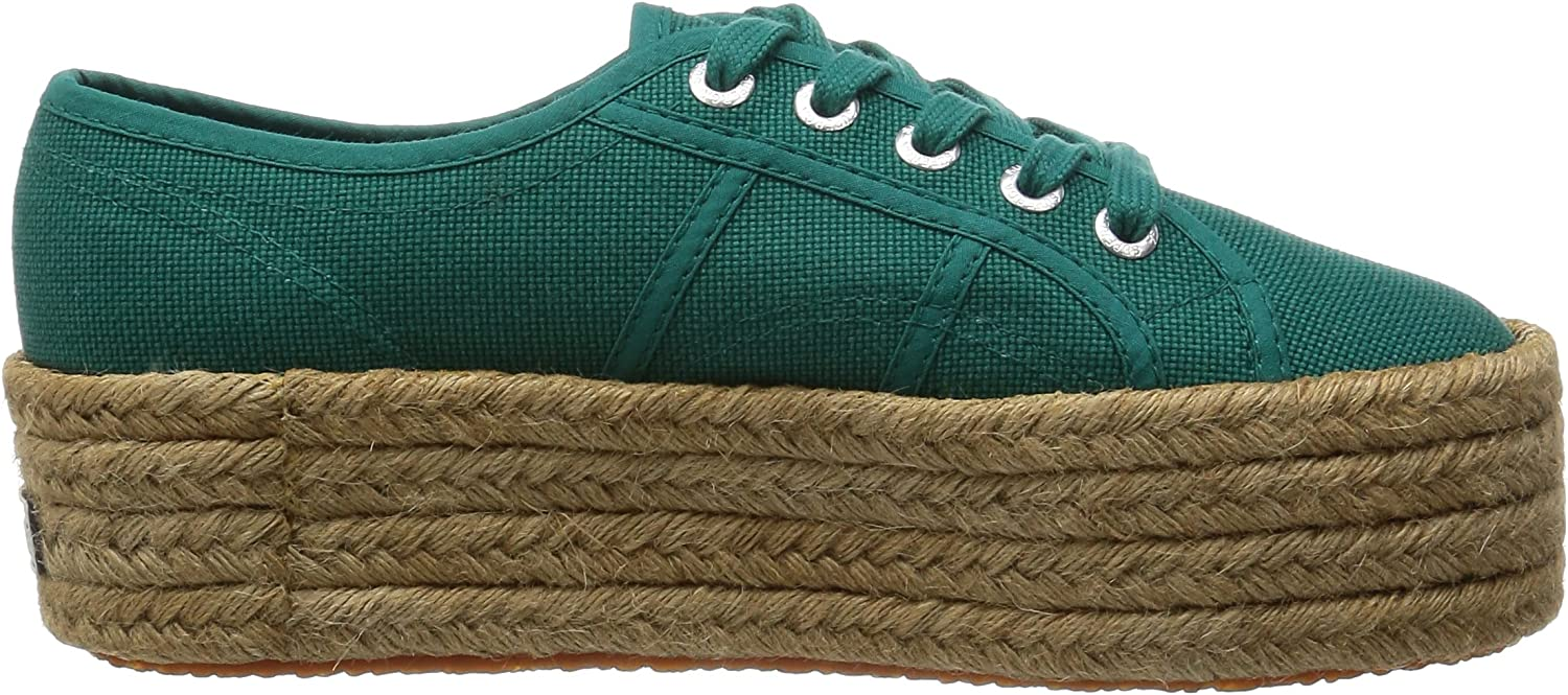 Superga Women's 2790-Cotropew Trainers Green Green Teal
