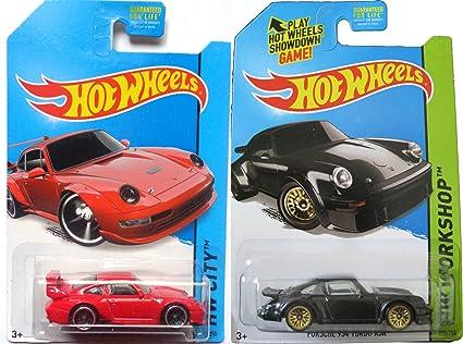 Porsche Classic Hot Wheels HW City Workshop Car Set 934 Turbo #220 & 993 GT2