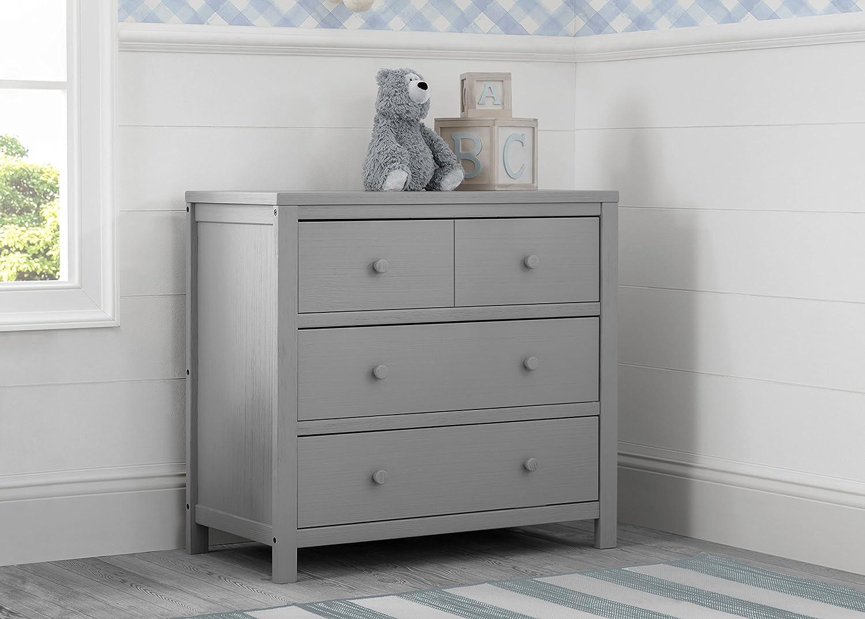Amazon.com: Delta - Vestidor de 3 cajones, color gris: Baby