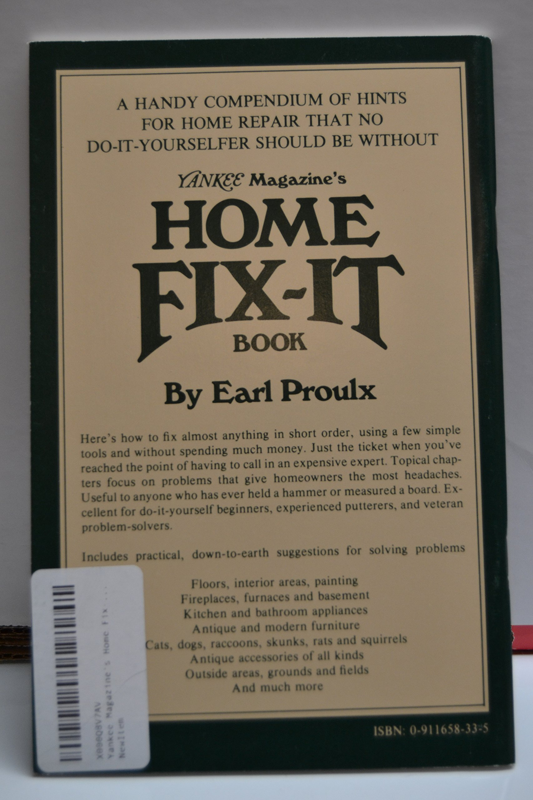 Yankee magazines home fix it book earl proulx 9780911658330 yankee magazines home fix it book earl proulx 9780911658330 amazon books solutioingenieria Images