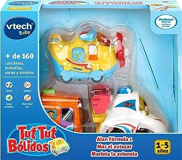 VTech TutTut Bólidos Pack de 3 coches con botón sorpresa, Alan ...