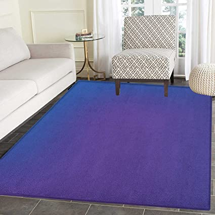 Indigo Print Area Rug Ombre Vivid Colored Image With Purple Pink Seem Shadow Detail Art Print Indoor Outdoor Area Rug 5 X6 Dark Blue And Purple Amazon Co Uk Kitchen Home