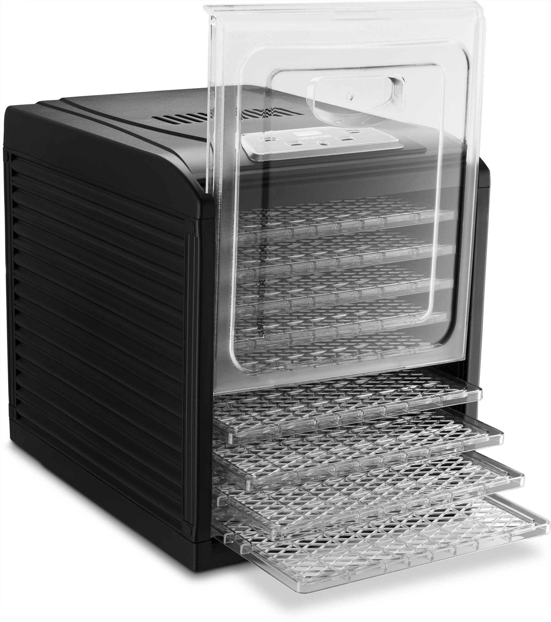 Gourmia GFD1950 Digital Food Dehydrator - 9 Drying Trays Plus Fruit Leather Tray - Digital Temperature Control - Transparent Window - Free recipe Book Included by Gourmia (Image #5)