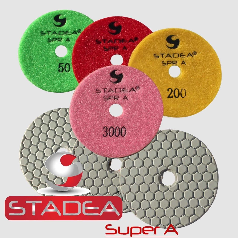 "3/"" DAMO Diamond Floor Polishing Pad Grit 400 for Concrete Granite Terrazzo"