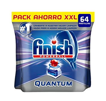 Finish Quantum Regular Pastillas para Lavavajillas - 64 pastillas ...