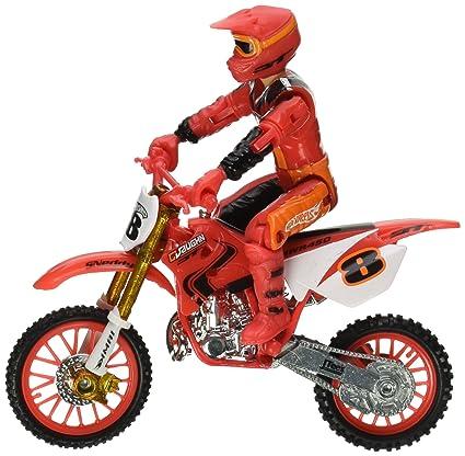 Hot Wheels Moto X No.8 Rider And Bike Figure, Red
