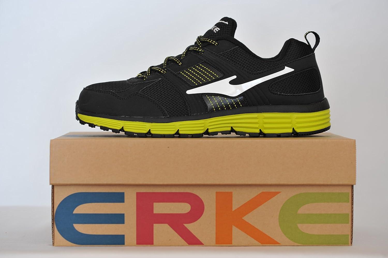 Erke Chaussures de Running Homme Gris Noir Jaune et Blanc - 44