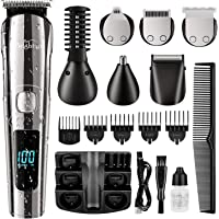 Brightup Beard Trimmer for Men, Cordless Hair Clippers Hair Trimmer, Waterproof Body Mustache Nose Ear Facial Cutting…