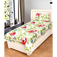 Rite Clique 3D Poly-Cotton Single Bed Sheet with 1 Pillow Cover