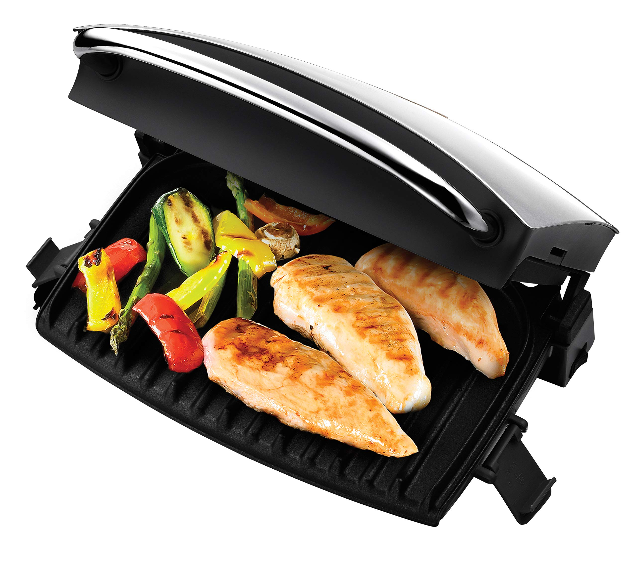 Silver by George Foreman George Foreman 22160 Advanced Five Portion Grill and Melt