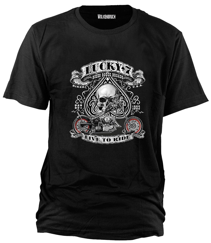 Wolkenbruch/ /Camiseta Lucky 7/Skull Biker Talla S de XXXXXL