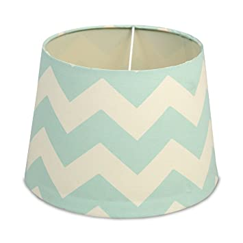 Lolli living aqua zig zag lamp shade