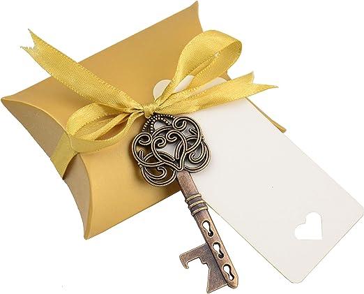 OPTIONAL GIFT BOX PERSONALISED STEEL BOTTLE OPENER WEDDING THANK YOU FAVOUR