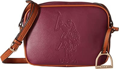 be5950abc41 U.S. POLO ASSN. Women's Lia Embossed Camera Bag Merlot Handbag ...