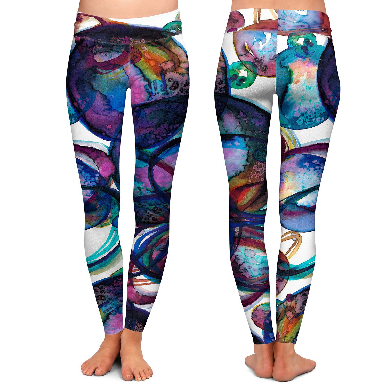 Worlds Collide l Athletic Yoga Leggings from DiaNoche Designs by Julia Di Sano
