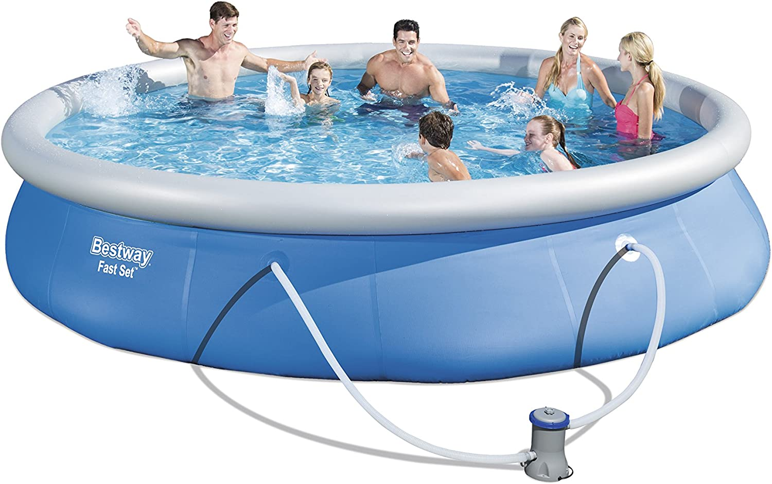 Bestway 57313 - Piscina Desmontable Autoportante Fast Set 457x84 ...