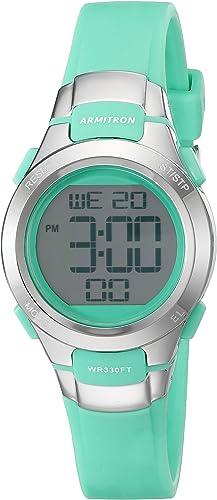 Amazon.com: Armitron Sport Women's 45/7012TEL Digital Chronograph Teal  Resin Strap Watch: Watches