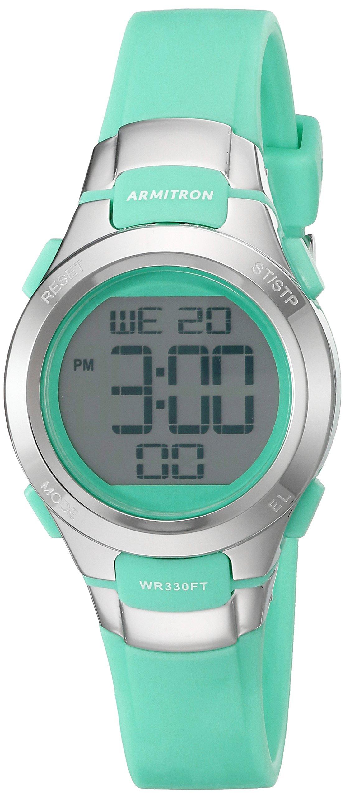 Armitron Sport Women's 45/7012TEL Digital Chronograph Teal Resin Strap Watch by Armitron Sport
