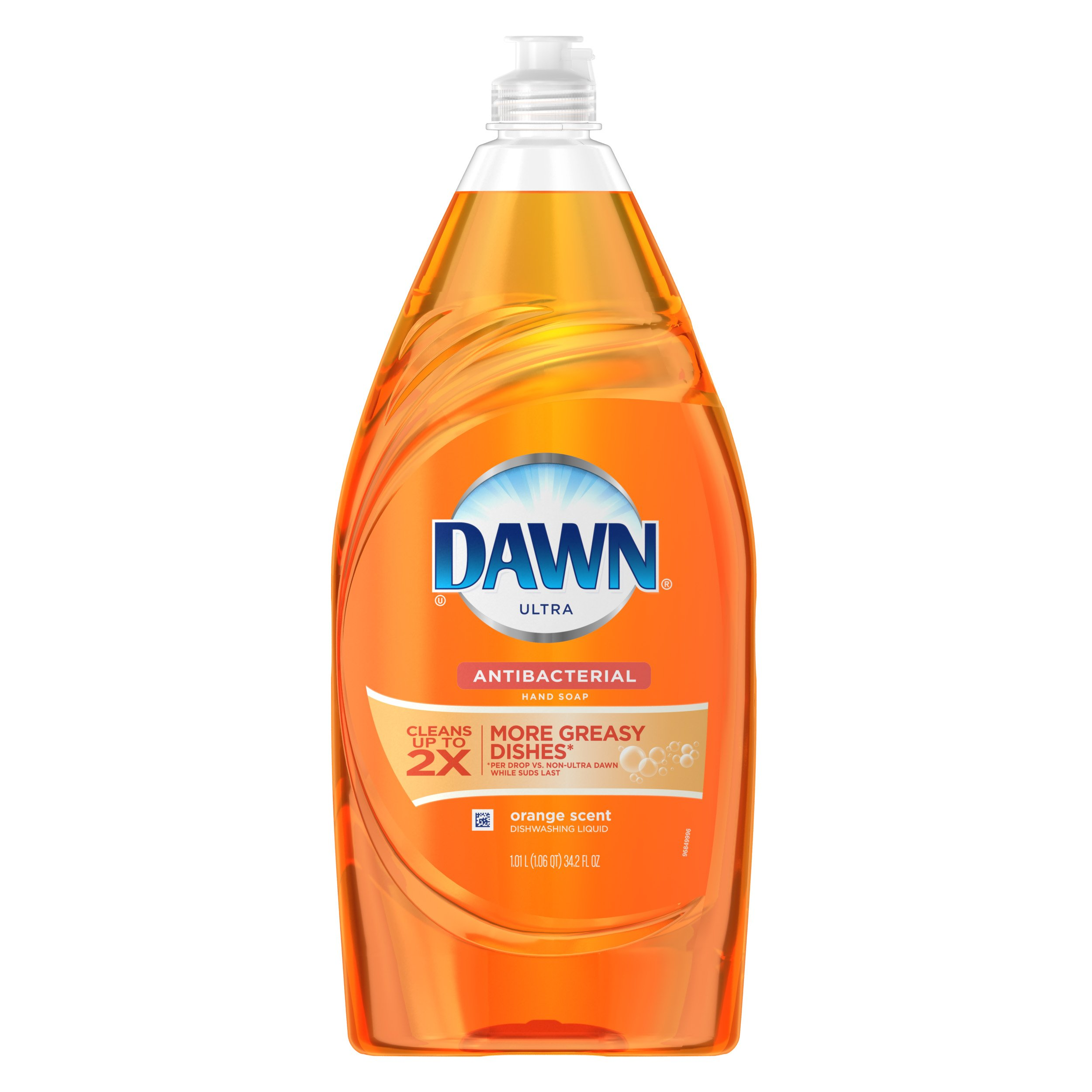 Dawn Ultra Dishwashing Liquid Dish Soap, Antibacterial Orange, 34.2 oz (Pack of 8)