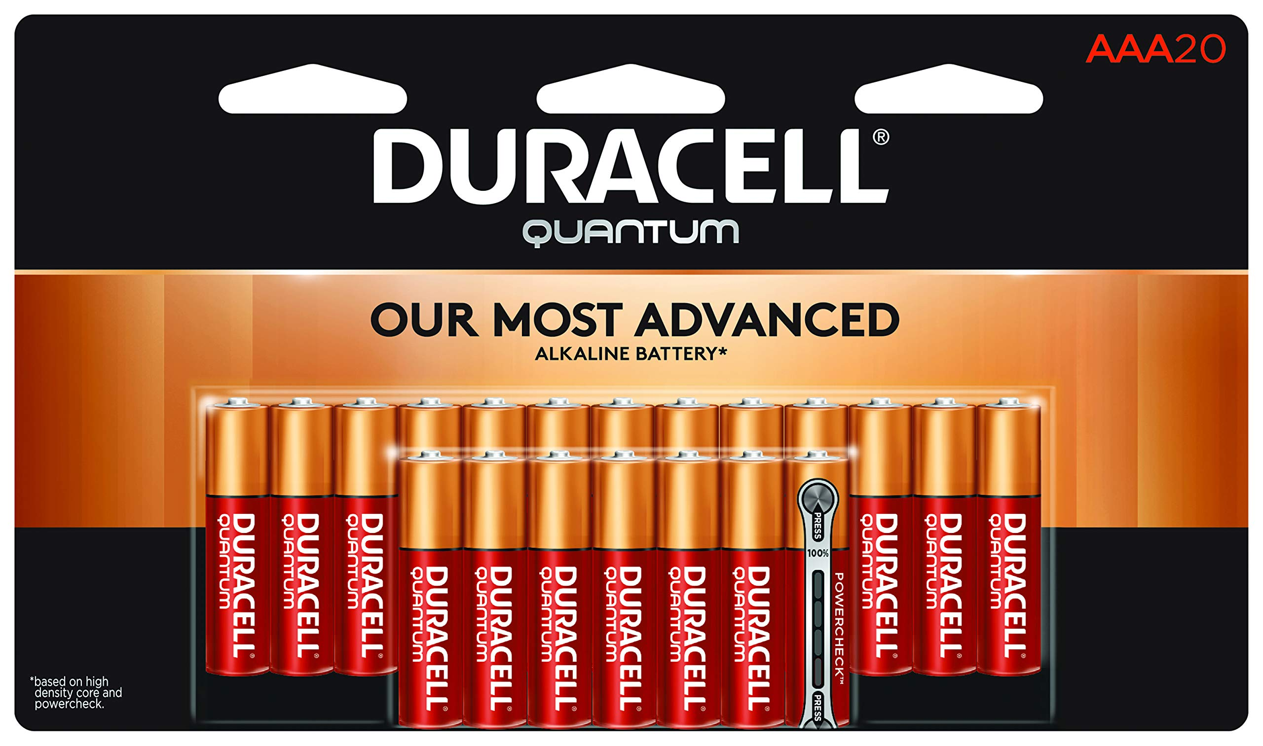 Duracell Quantum Alkaline Batteries, AAA 20 pack by Duracell