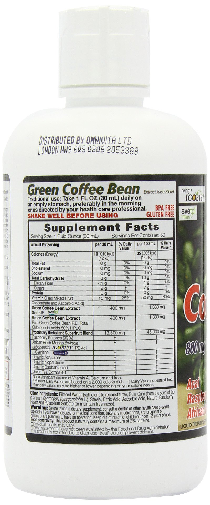 Dynamic Health Green Coffee Bean Juice Blend, 30 Fluid Ounce by Dynamic Health (Image #7)