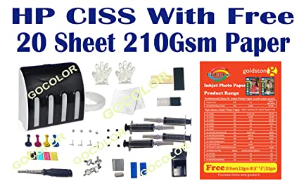 Gocolor empty continuous ink tank supply system ciss kit compatible gocolor empty continuous ink tank supply system ciss kit compatible for hp inkjet printer fandeluxe Images