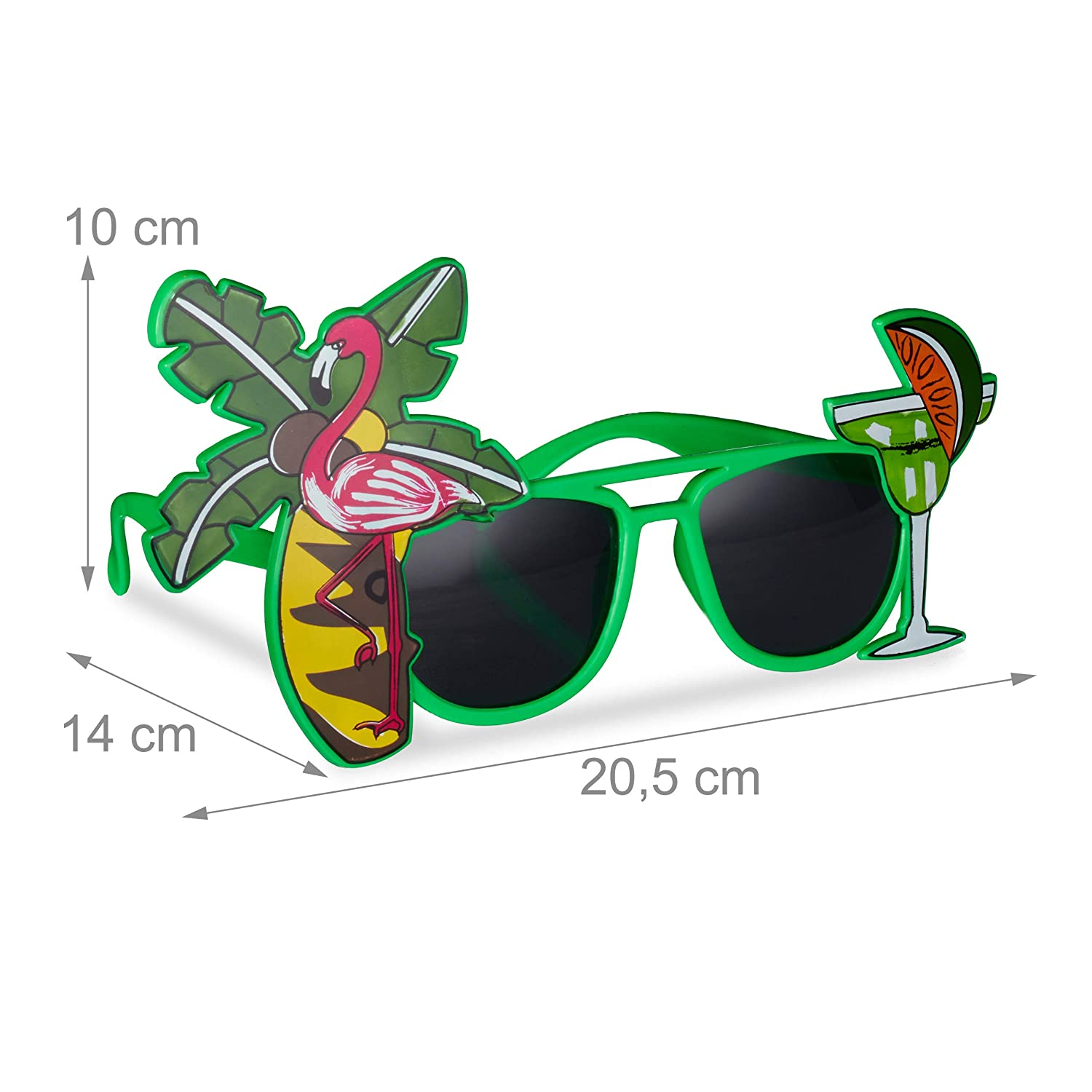 Relaxdays 10024246 Hawaii - Gafas de sol divertidas con ...
