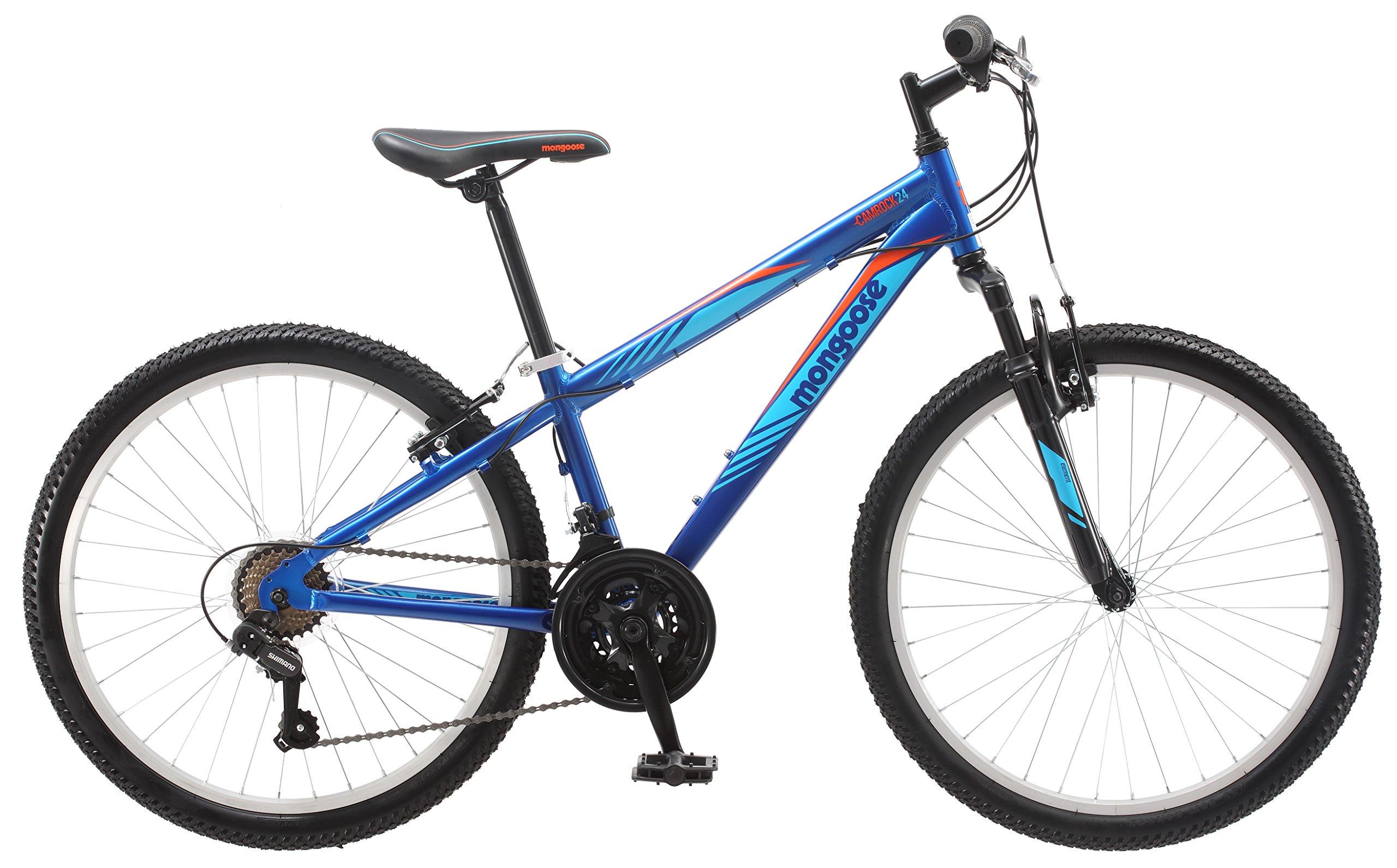 Mongoose Camrock 24'' Wheel Mountain Bicycle, Blue, One Size