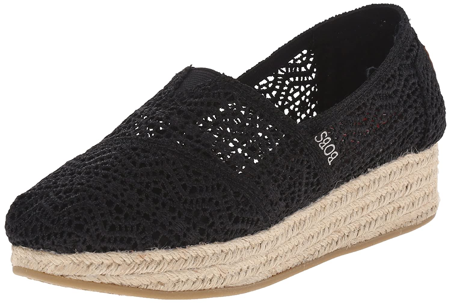 Skechers Damen Highlights Schuh  39.5 EU|Black Woven