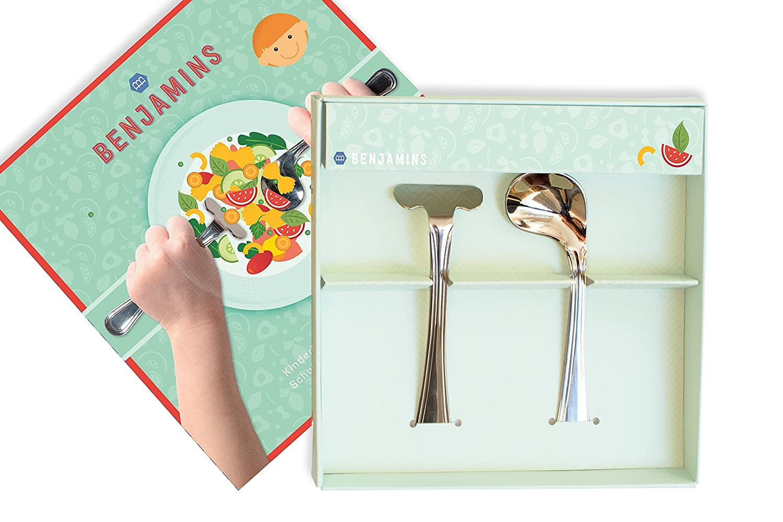 Benjamins-Products Kinderbesteck-Set-2-teilig, Edelstahl ab 1 Jahr geeignet B.V. Benjamins Cutlery Right Handed