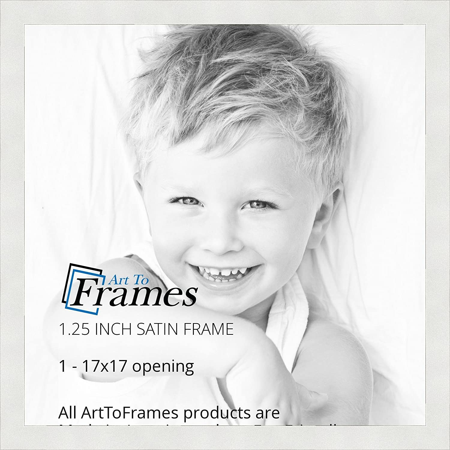 Amazon.com - ArtToFrames 17x17 inch Satin White Frame Picture Frame ...