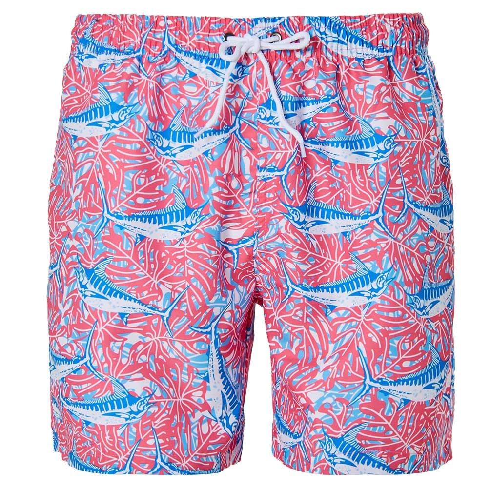 Mens Swim Trunks Funny Printed Boardshorts Shark Seaweed Swim Shorts Quick Dry Beach Shorts M