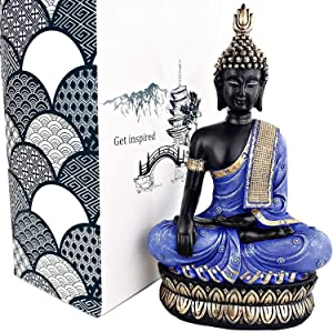 "25DOL Buddha Statues for Home. 13"" Buddha Statue (The Moment of Enlightenment). Collectibles and Figurines, Meditation Decor, Spiritual Living Room Decor, Yoga Zen Decor, Hindu and East Asian Décor"