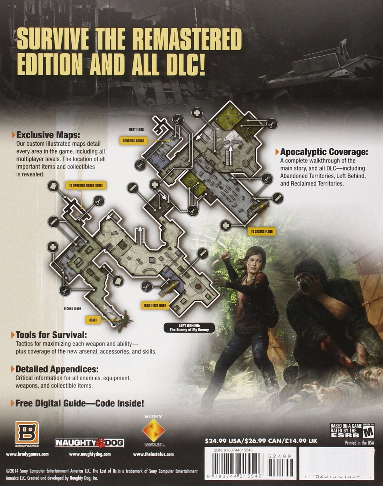 The Last Of Us Remastered Signature Series Strategy Guide - The last of us multiplayer maps