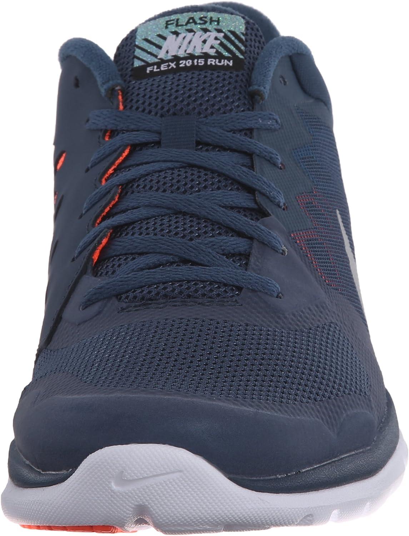 Nike Flex 2015 RN Flash, Zapatillas de Running para Hombre, Azul/Naranja/Blanco/Plata (Sqdrn Bl/Mtllc Slvr-Hypr Orng), 47 1/2 EU: Amazon.es: Zapatos y complementos