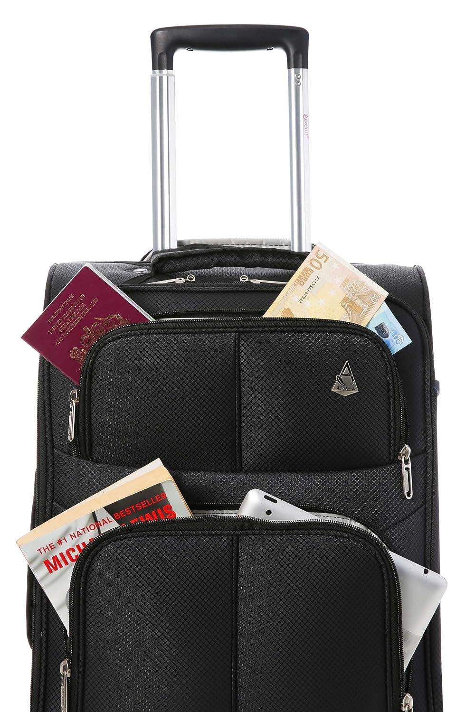 Aerolite IATA Aprobado 55x35x20 Maleta Equipaje de Mano Cabina Ligera con 2 Ruedas Negro