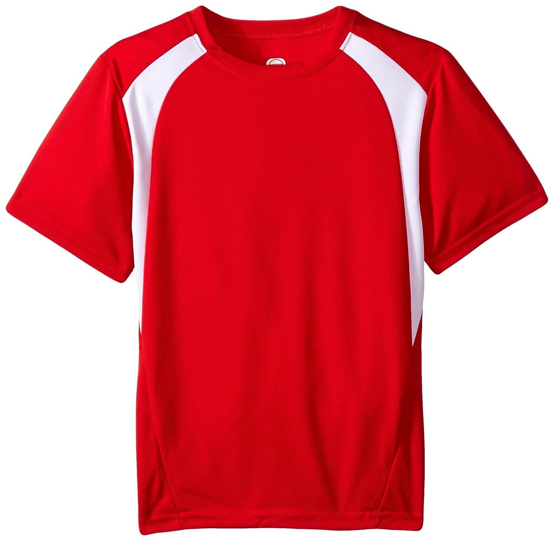 チームワークYouthトレントTech Tee B013SKMFJM Large Scarlet Red/White Scarlet Red/White Large