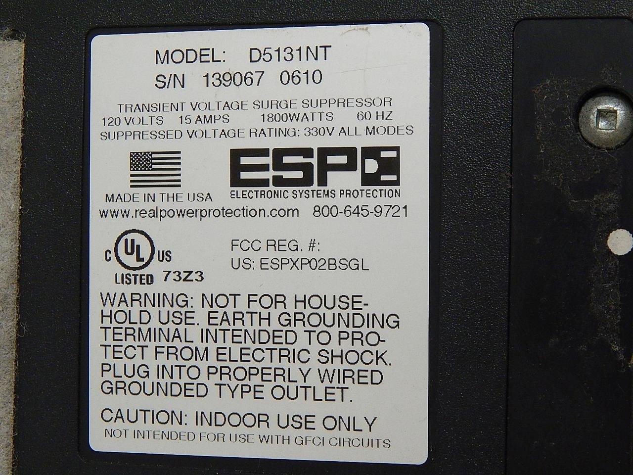 ESP D5131NT Transient Voltage Surge Suppressor: Amazon.com ...