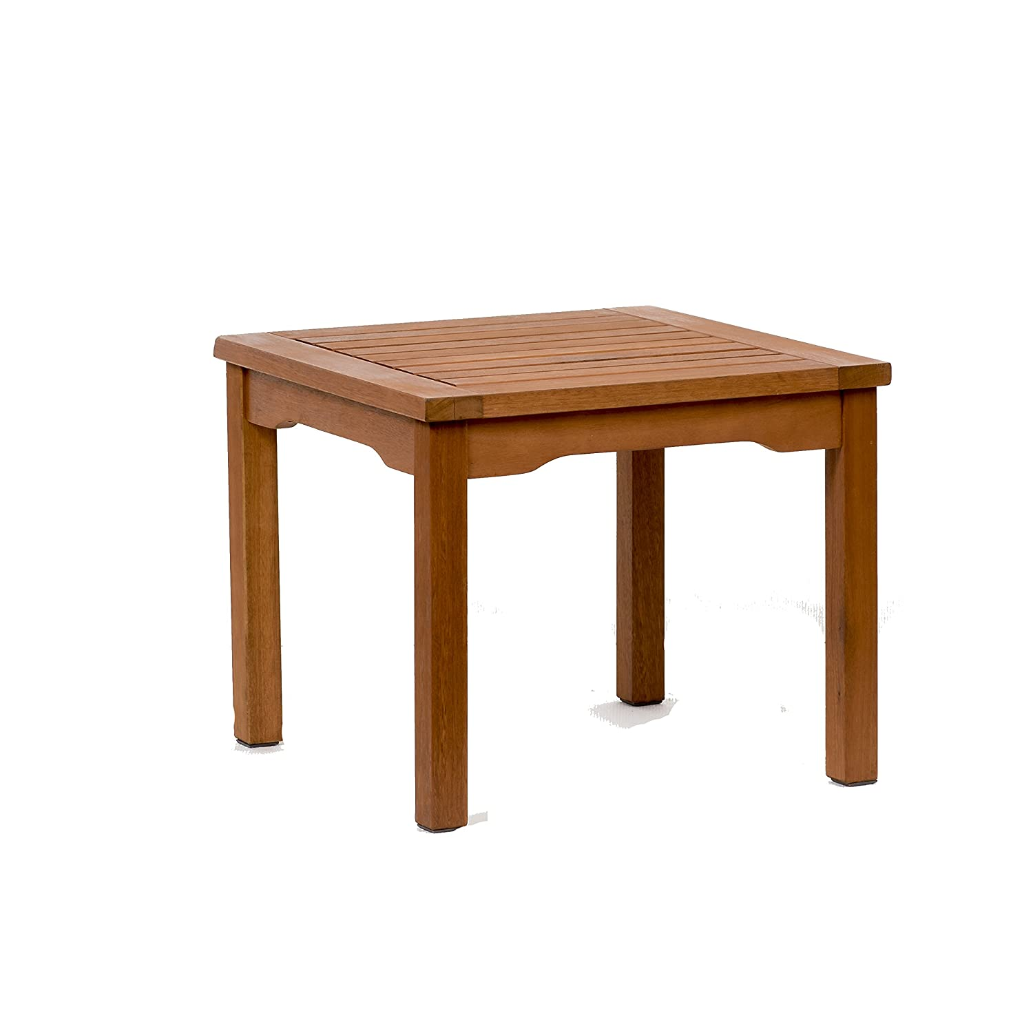 Amazon com amazonia square and durable side table super quality eucalyptus wood perfect for patio and backayard garden outdoor