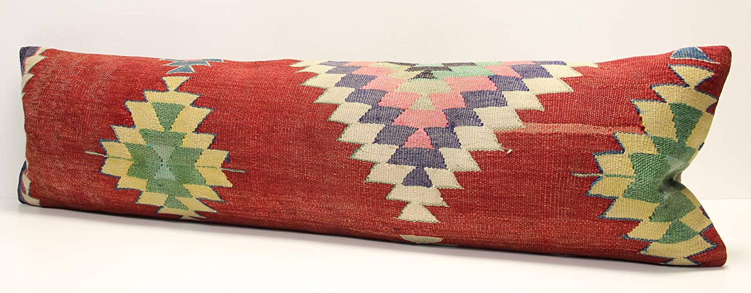 Bedding lumbar Kilim pillow cover Twin extra long pillow cover 35x120 cm King size kilim pillow 14x47 inch