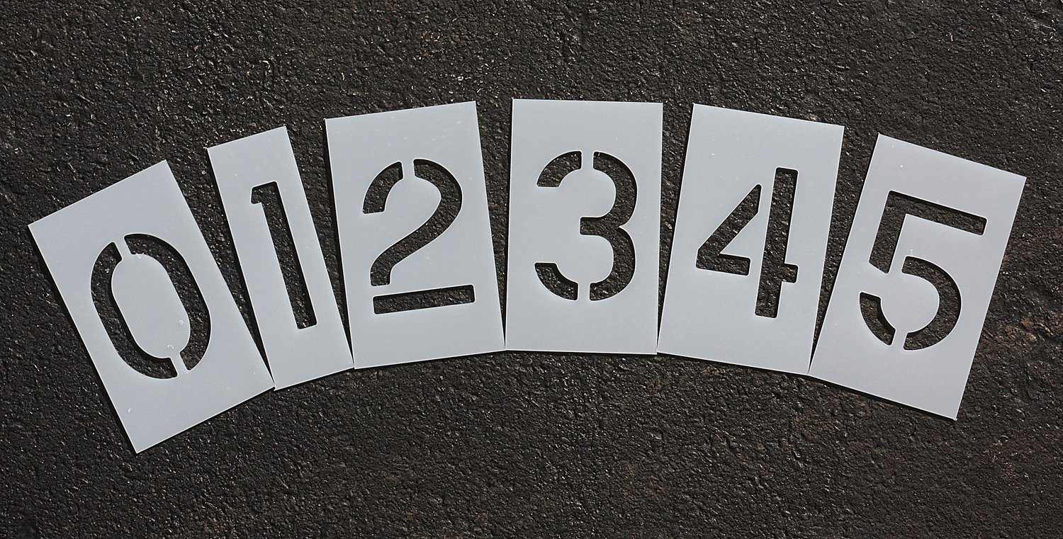 Amazon rae 3 inch number kit plastic paint stencils 0 9 amazon rae 3 inch number kit plastic paint stencils 0 9 numbers for use with any paint home improvement spiritdancerdesigns Image collections