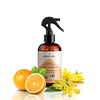 Calm + Relaxing - Organic Car Air Freshener with Sweet Orange and Ylang Ylang: Automotive