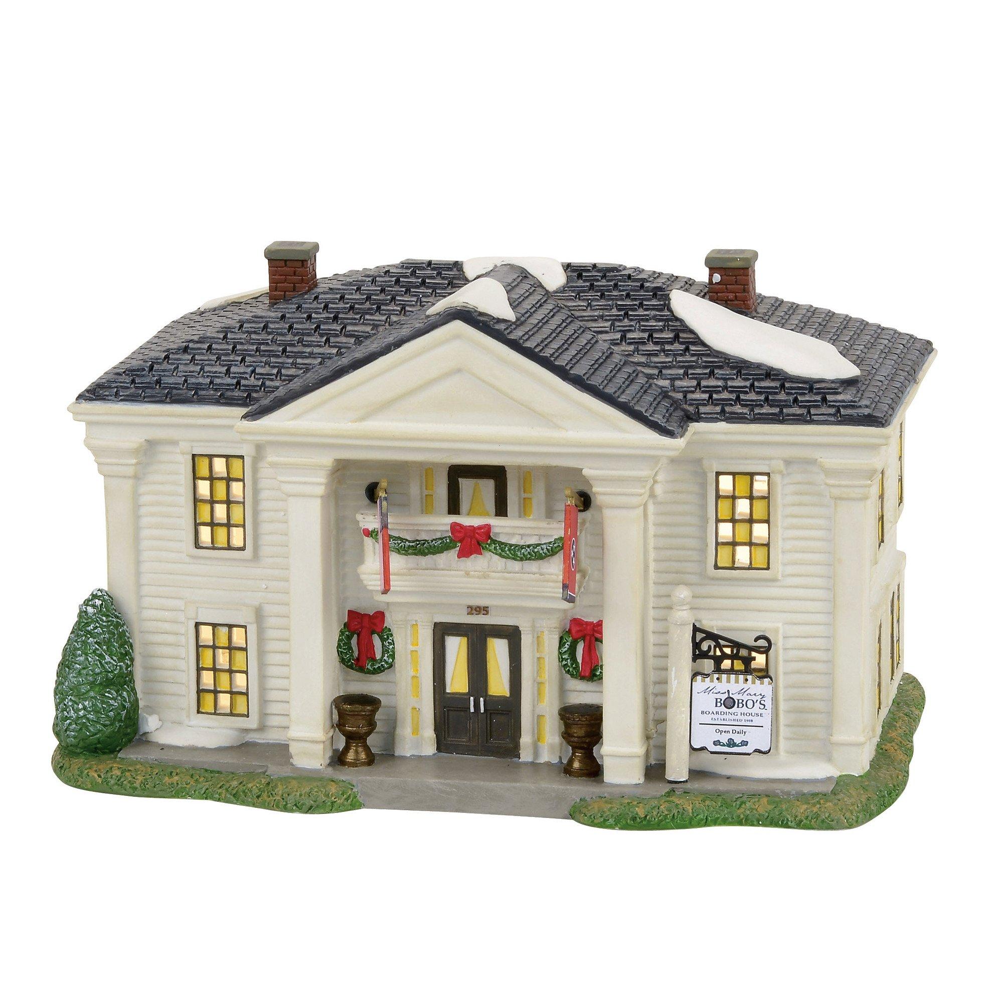 Department 56 Jack Daniel's Miss Mary Bobo's Boarding House Village Lit Building, Multicolor