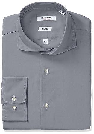 Isaac Mizrahi Hombres de Slim Fit Manga Larga Sólido Camisa - Colores - -: Amazon.es: Ropa y accesorios
